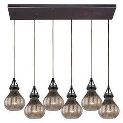 ELK Lighting Danica (Existing) Collection 6 Light Chandelier In Oil Rubbed Bronze