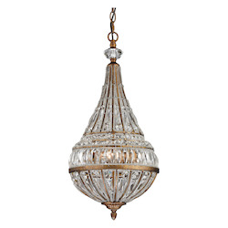 ELK Lighting Empire Collection 3 Light Pendant In Mocha