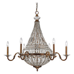 ELK Lighting Empire Collection 8+6 Light Chandelier In Mocha