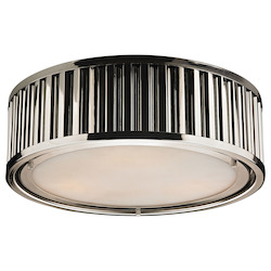 ELK Lighting Linden Collection 3 Light Flush Mount In Polished Nickel