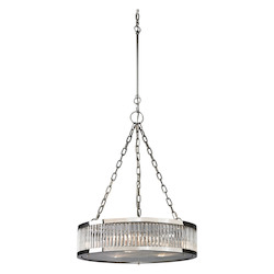 ELK Lighting Linden Collection 3 Light Pendant In Polished Nickel