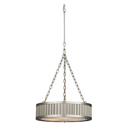 ELK Lighting Linden Collection 3 Light Pendant In Brushed Nickel