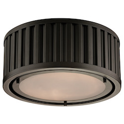 ELK Lighting Linden Collection 2 Light Flush Mount In Oil Rubbed Bronze