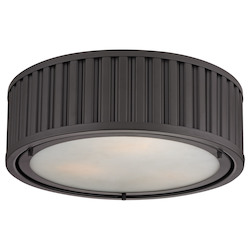 ELK Lighting Linden Collection 3 Light Flush Mount In Oil Rubbed Bronze