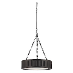 ELK Lighting Linden Collection 3 Light Pendant In Oil Rubbed Bronze