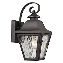 ELK Lighting Forged Brookridge Collection 1 Light Outdoor Sconce In Charcoal