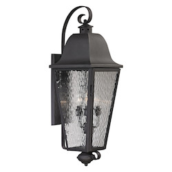 ELK Lighting Forged Brookridge Collection 4 Light Outdoor Sconce In Charcoal