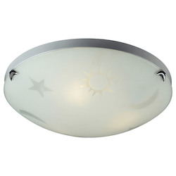 ELK Lighting Three Light Satin Nickel Bowl Flush Mount