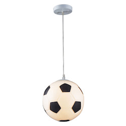 ELK Lighting 1-Light Soccer Ball Pendant In Silver