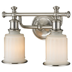 ELK Lighting Acadia Collection 2 Light Bath In Brushed Nickel