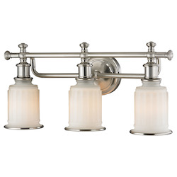 ELK Lighting Acadia Collection 3 Light Bath In Brushed Nickel