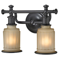 ELK Lighting Acadia Collection 2 Light Bath In Oil Rubbed Bronze