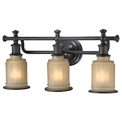 ELK Lighting Acadia Collection 3 Light Bath In Oil Rubbed Bronze