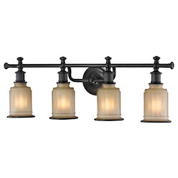 ELK Lighting Acadia Collection 4 Light Bath In Oil Rubbed Bronze
