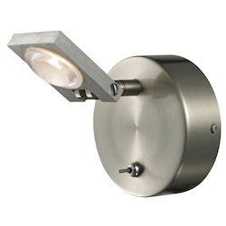 ELK Lighting Reilly Collection 1 Light Bath In Brushed Nickel/Brushed Aluminum