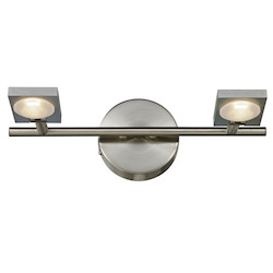 ELK Lighting Reilly Collection 2 Light Bath In Brushed Nickel/Brushed Aluminum