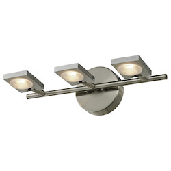 ELK Lighting Reilly Collection 3 Light Bath In Brushed Nickel/Brushed Aluminum