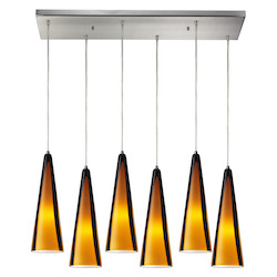 ELK Lighting Six Light Satin Nickel Multi Light Pendant