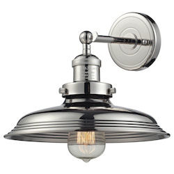 ELK Lighting Newberry Collection 1 Light Sconce In Polished Nickel
