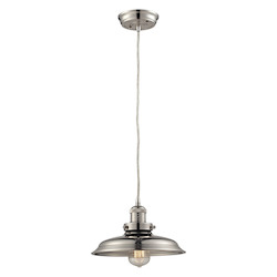 ELK Lighting Newberry Collection 1 Light Mini Pendant  In Polished Nickel