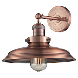 ELK Lighting Newberry Collection 1 Light Sconce In Antique Copper