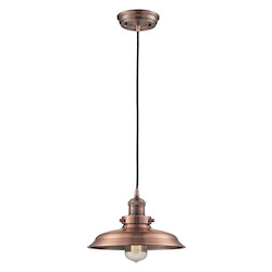ELK Lighting Newberry Collection 1 Light Mini Pendant In Antique Copper