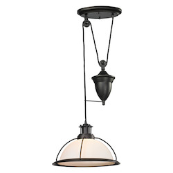 ELK Lighting Wilmington Collection 1 Light Pulldown Pendant In Oil Rubbed Bronze