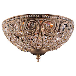 ELK Lighting Three Light Dark Bronze Bowl Flush Mount