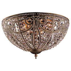 ELK Lighting Six Light Dark Bronze Bowl Flush Mount