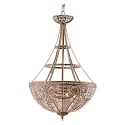 ELK Lighting Four Light Dark Bronze Up Pendant