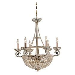 ELK Lighting Ten Light Dark Bronze Up Chandelier