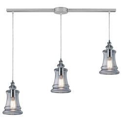 ELK Lighting Three Light Polished Chrome Multi Light Pendant