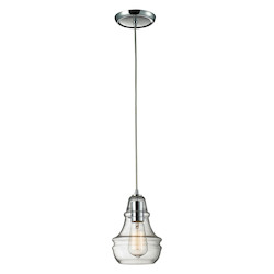 ELK Lighting One Light Polished Chrome Down Pendant