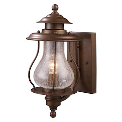ELK Lighting One Light Coffee Bronze Wall Lantern