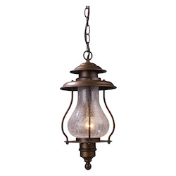 ELK Lighting One Light Coffee Bronze Hanging Lantern
