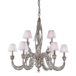 ELK Lighting Nine Light Sunset Silver Up Chandelier