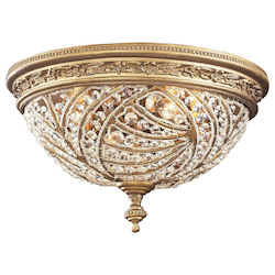 ELK Lighting Four Light Dark Bronze Bowl Flush Mount