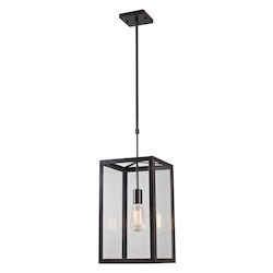 ELK Lighting One Light Bronze Framed Glass Foyer Hall Fixture