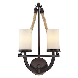 ELK Lighting Two Light Aged Bronze Wall Light