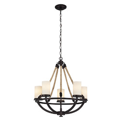 ELK Lighting Five Light Aged Bronze Candle Chandelier