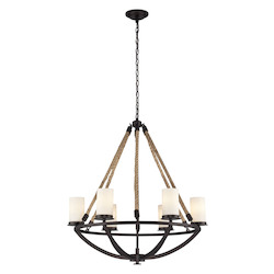 ELK Lighting Six Light Aged Bronze Candle Chandelier