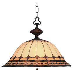ELK Lighting Three Light Burnished Copper Down Pendant