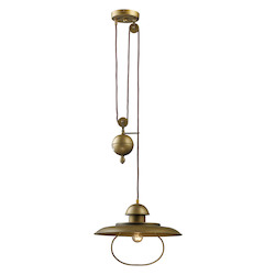 ELK Lighting One Light Antique Brass Down Pendant