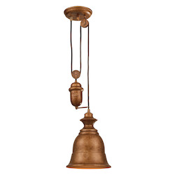 ELK Lighting One Light Bellwether Copper Down Mini Pendant