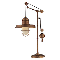 ELK Lighting Farmhouse Bellwether Copper Table Lamp