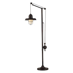 ELK Lighting Farmhouse Oiled Bronze Floor Lamp