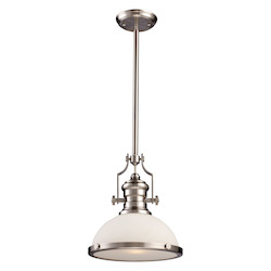 ELK Lighting One Light Satin Nickel Down Pendant