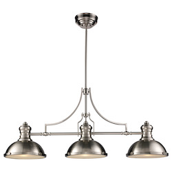 ELK Lighting Three Light Satin Nickel Pool Table Light