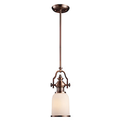 ELK Lighting One Light Antique Copper Down Mini Pendant