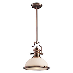 ELK Lighting One Light Antique Copper Down Pendant